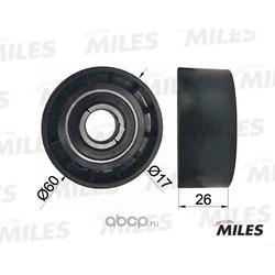 Ролик ремня приводного RENAULT LOGAN/CLIO/KANGOO/MEGANE направляющий с конд. (Miles) AG03013