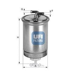 Топливный фильтр (UFI) 2436500