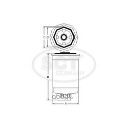 Топливный фильтр (SCT) ST6125