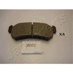 Колодки тормозные дисковые задние, комплект (Japanparts) PPW02AF