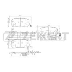 Комплект тормозных колодок, дисковый тормоз (Zekkert) BS1803