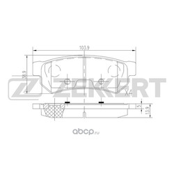 Колодки торм.диск. Chevrolet Lacetti (J200) 05- RE (Zekkert) BS2813
