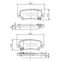 Комплект тормозных колодок, дисковый тормоз (Nipparts) J3612025