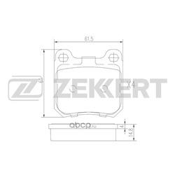 Колодки торм. диск. зад Opel Omega A 86- Vectra B 95- Saab 9-3 98- 9-5 97- (Zekkert) BS2356