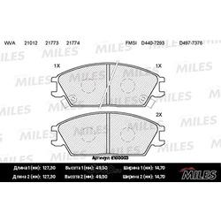 Колодки тормозные HYUNDAI ACCENT/VERNA/GETZ передние (Miles) E100003