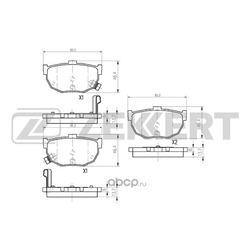 Колодки торм.диск. Hyundai Elantra (XD) 00- Lantra I II / Kia Cerato I (LD) 04- RE (Zekkert) BS1766