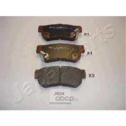 Комплект тормозных колодок, дисковый тормоз (Japanparts) PPH04AF