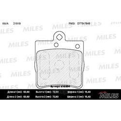 Колодки тормозные MERCEDES-BENZ W202/W203/W209/W210/R171/CHRYSLER CROSSFIRE зад. (Miles) E110304