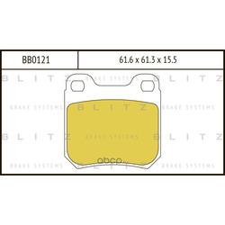 Колодки тормозные дисковые (Blitz) BB0121