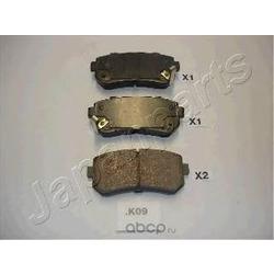 Комплект тормозных колодок, дисковый тормоз (Japanparts) PPK09AF