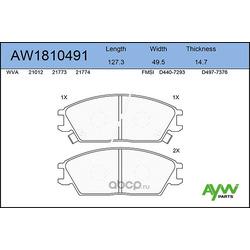 Колодки тормозные передние (AYWIparts) AW1810491