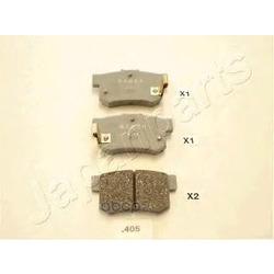 Комплект тормозных колодок, дисковый тормоз (Japanparts) PP405AF