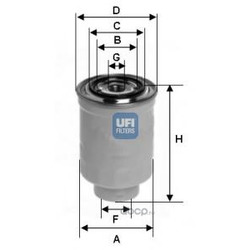 Топливный фильтр (UFI) 2437500