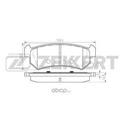Комплект тормозных колодок, дисковый тормоз (Zekkert) BS1308
