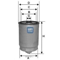 Топливный фильтр (UFI) 2435000