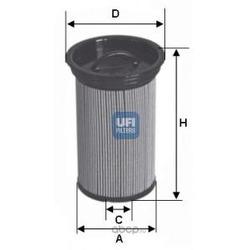 Топливный фильтр (UFI) 2600500