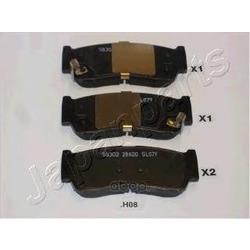 Колодки тормозные дисковые задние, комплект (Japanparts) PPH08AF