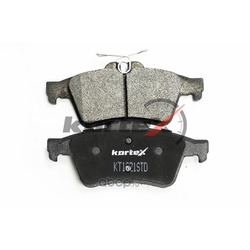 Колодки тормозные, комплект, задние (KORTEX) KT1621STD