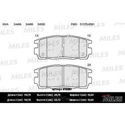Колодки тормозные CHEVROLET CAPTIVA/OPEL ANTARA 2.4/3.2 06- задние (Miles) E110297