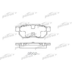 Колодки тормозные дисковые задние (PATRON) PBP472