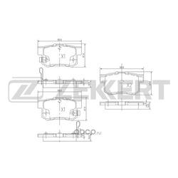 Колодки торм. диск. зад Honda Accord VII 02- Civic IX 12- CR-V II 02- Shuttle (RA) 94- Stream I (Zekkert) BS1713