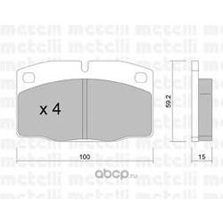 Комплект тормозных колодок, дисковый тормоз (Metelli) 2200440