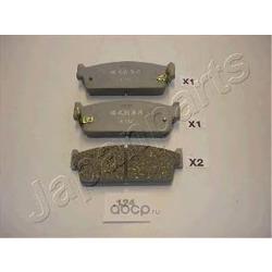 Комплект тормозных колодок, дисковый тормоз (Japanparts) PP124AF