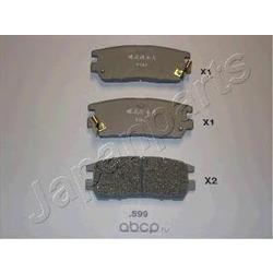 Комплект тормозных колодок, дисковый тормоз (Japanparts) PP599AF
