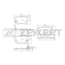 Колодки торм. диск. зад Honda Accord IV-VII 90- Civic VII VIII 00- Shuttle (RA) 99- (Zekkert) BS1720