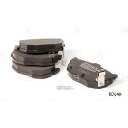 Комплект тормозных колодок, дисковый тормоз (HOLA) BD849