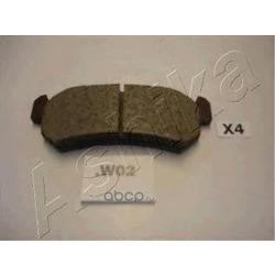 Колодки тормозные дисковые задние, комплект (Ashika) 510WW02
