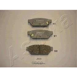 Комплект тормозных колодок, дисковый тормоз (Ashika) 5105504