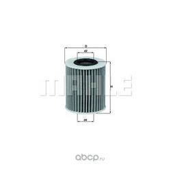 Масляный фильтр (Mahle/Knecht) OX413D2