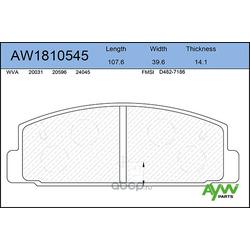 Колодки тормозные задние (AYWIparts) AW1810545