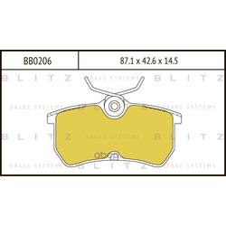Колодки тормозные дисковые (Blitz) BB0206