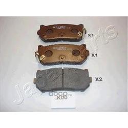Комплект тормозных колодок, дисковый тормоз (Japanparts) PPK00AF