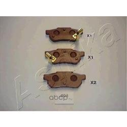Комплект тормозных колодок, дисковый тормоз (Ashika) 5104404