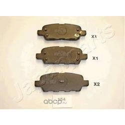Комплект тормозных колодок, дисковый тормоз (Japanparts) PP154AF