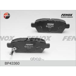 Комплект тормозных колодок, дисковый тормоз (FENOX) BP43360