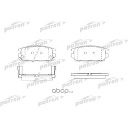 Колодки тормозные дисковые задние (PATRON) PBP1507