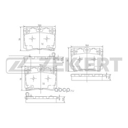 Колодки торм. диск. зад Mitsubishi Pajero II 90- Pajero Sport I 97- (Zekkert) BS1637
