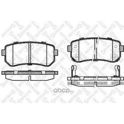 Комплект тормозных колодок (Stellox) 001087BSX