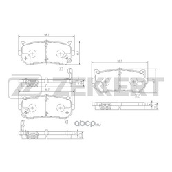 Колодки торм.диск. Kia Carens I II 00- Shuma I II 96- Sephia 97- RE (Zekkert) BS2809