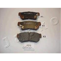 Комплект тормозных колодок, дисковый тормоз (JAPKO) 51H04