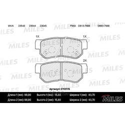 Колодки тормозные HYUNDAI TRAJET 2.0-2.7 00- задние (Miles) E110178