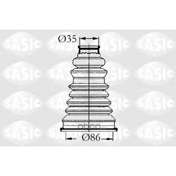 Комплект пылника, приводной вал (Sasic) 4003432