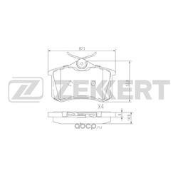 Колодки торм. диск. зад Audi A4 / Avant II III 00- A6 / Avant II 97- Skoda Fabia (6Y) 99- Octavi (Zekkert) BS1127
