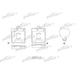 Колодки тормозные дисковые задние (PATRON) PBP1322