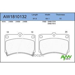 Колодки тормозные передние (AYWIparts) AW1810132