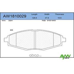 Колодки тормозные передние (AYWIparts) AW1810029